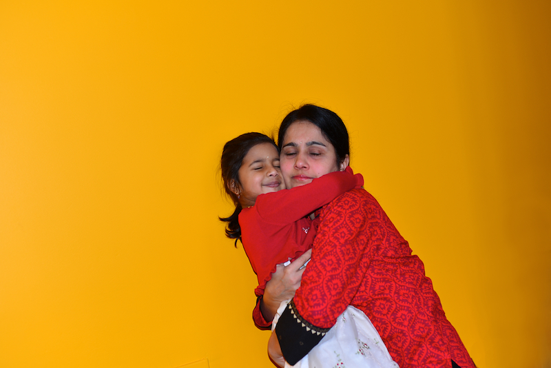 Picture of Meera with Amma by Arun Shanbhag
