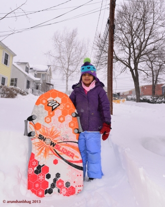 Meera Pics from the Blizzard of 2013 by Arun Shanbhag