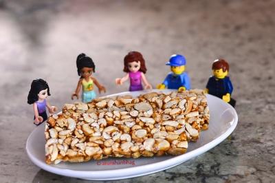 Pictures of Lego Minifigures enjoying Peanut Chikki by Arun Shanbhag