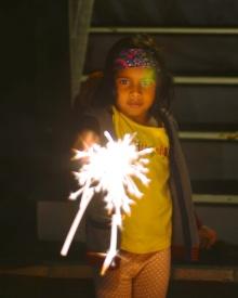 pic of Meera celebrating Diwali Deepawali in Boston by Arun Shanbhag