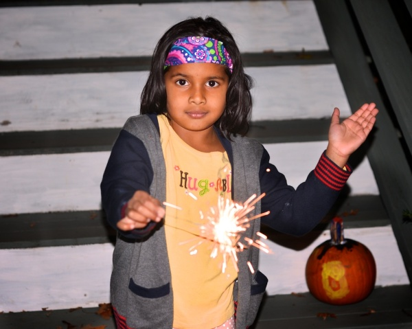 pic of Meera celebrating Diwali Deepawali in Boston by Arun Shanbhag
