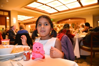 pics of Meera at our Thanksgiving Brunch at Aura Seaport Hotel Boston by Arun Shanbhag