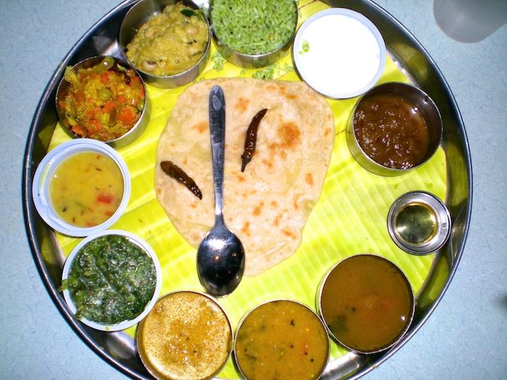 Photos of Thali Riceplate at Anand Bhavan in Puducherry Pondicherry India by Arun Shanbhag