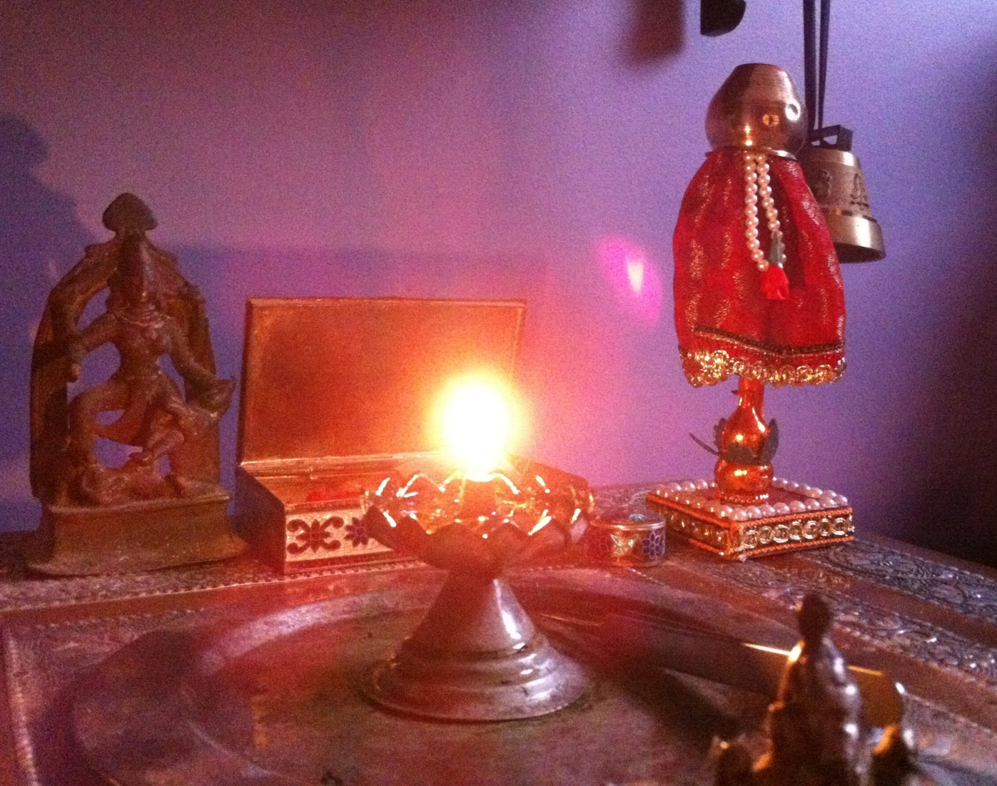 picture of Gudi on our altar at home by Arun Shanbhag