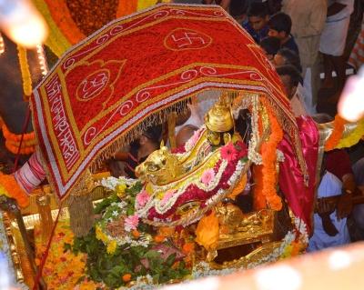 photos of Ramnath and Kamakshi in Palki at Ramnathi Devasthan by Arun Shanbhag