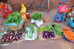 photos of fresh vegetable vendors on Kumta Street by Arun Shanbhag