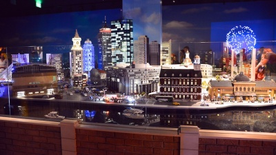 photos of Boston highlights build with Lego bricks from Legoland Boston by Arun Shanbhag