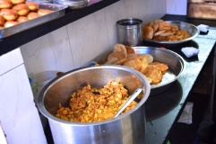 pics of chai puri bhaji breakfast at Kini Hotel Kumta by Arun Shanbhag