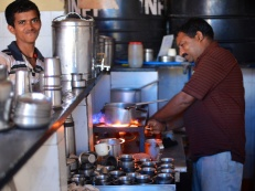 pics of chai and breakfast at Kini Hotel Kumta by Arun Shanbhag
