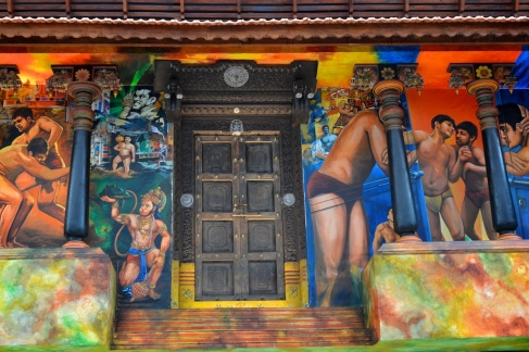 pics of art and murals at Mumbai's Terminal T2 by Arun Shanbhag