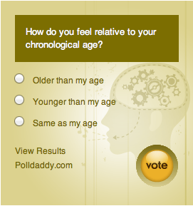 Poll: Do you feel younger or older than your age?
