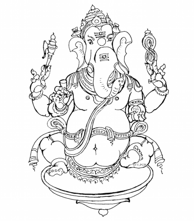 Ganesh Coloring Book