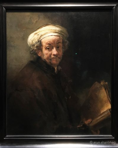Rembrandt self portrait at Rijksmuseum Netherlands by Arun Shanbhag