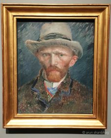 van Gogh self portrait at the Rijksmuseum Netherlands by Arun Shanbhag