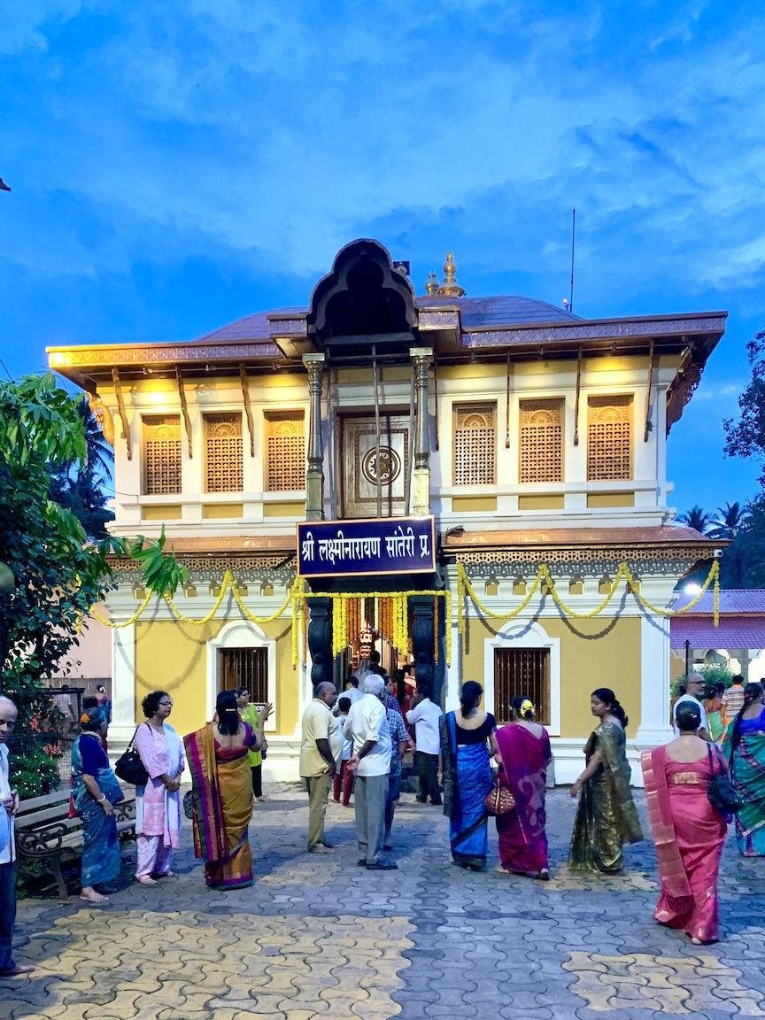 picture of Shantadurga Temple at Narayani Devasthan, Mardol Goa by Arun Shanbhag
